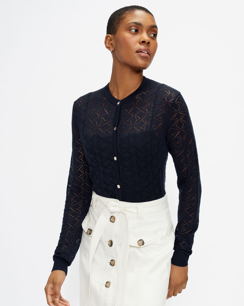 TED BAKER Stitch Detail Cardigan | TED BAKER SALE
