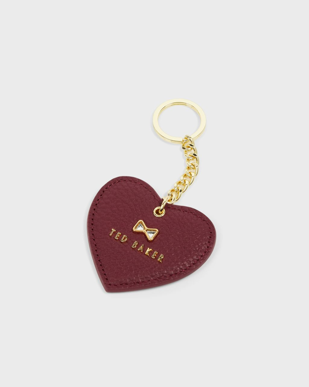 TED BAKER Crystal Bow Detail Heart Key Charm | TED BAKER SALE