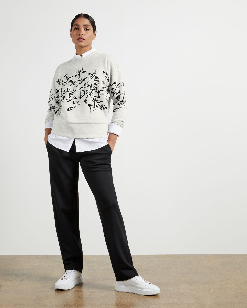 TED BAKER Bergamot Flocked Sweatshirt | TED BAKER SALE