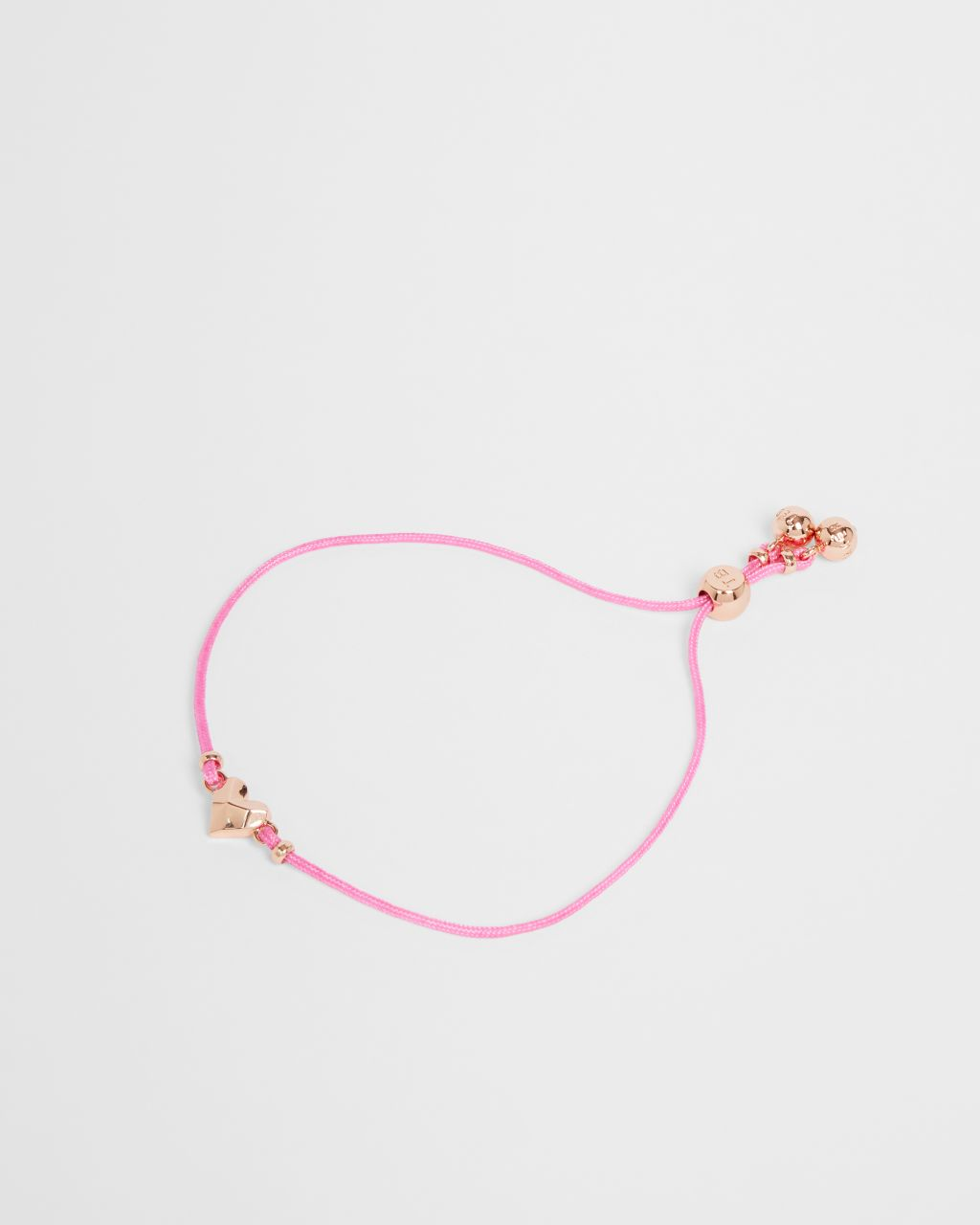 Tbj2651 Faceted Heart Cord Bracelet