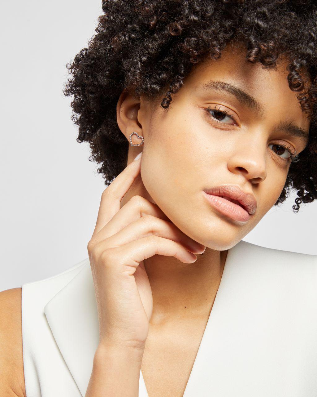 TED BAKER Crystal Heart Stud Earring | TED BAKER SALE