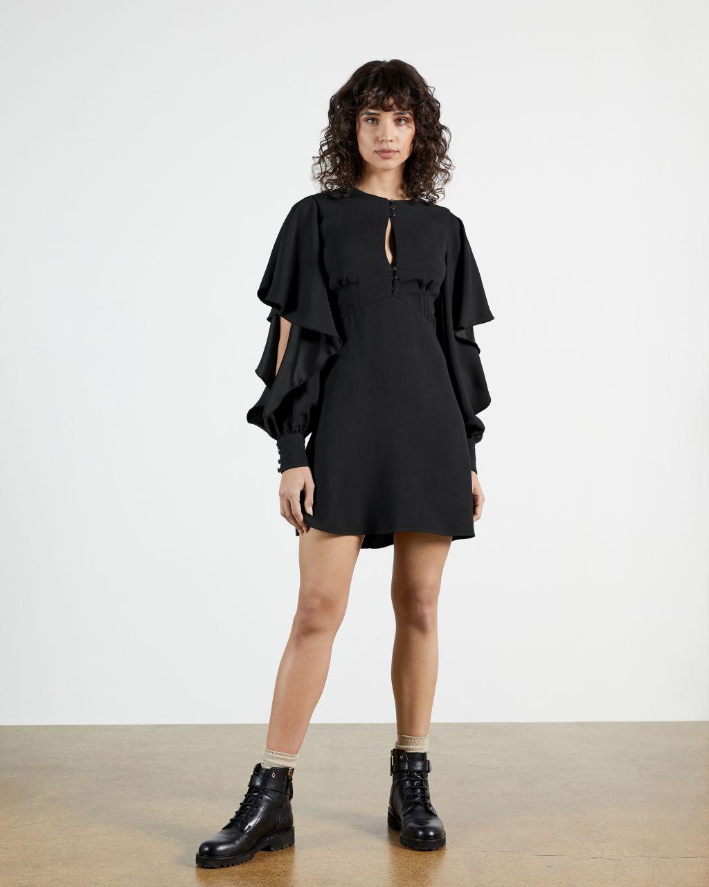 Detail Sleeve Mini Dress