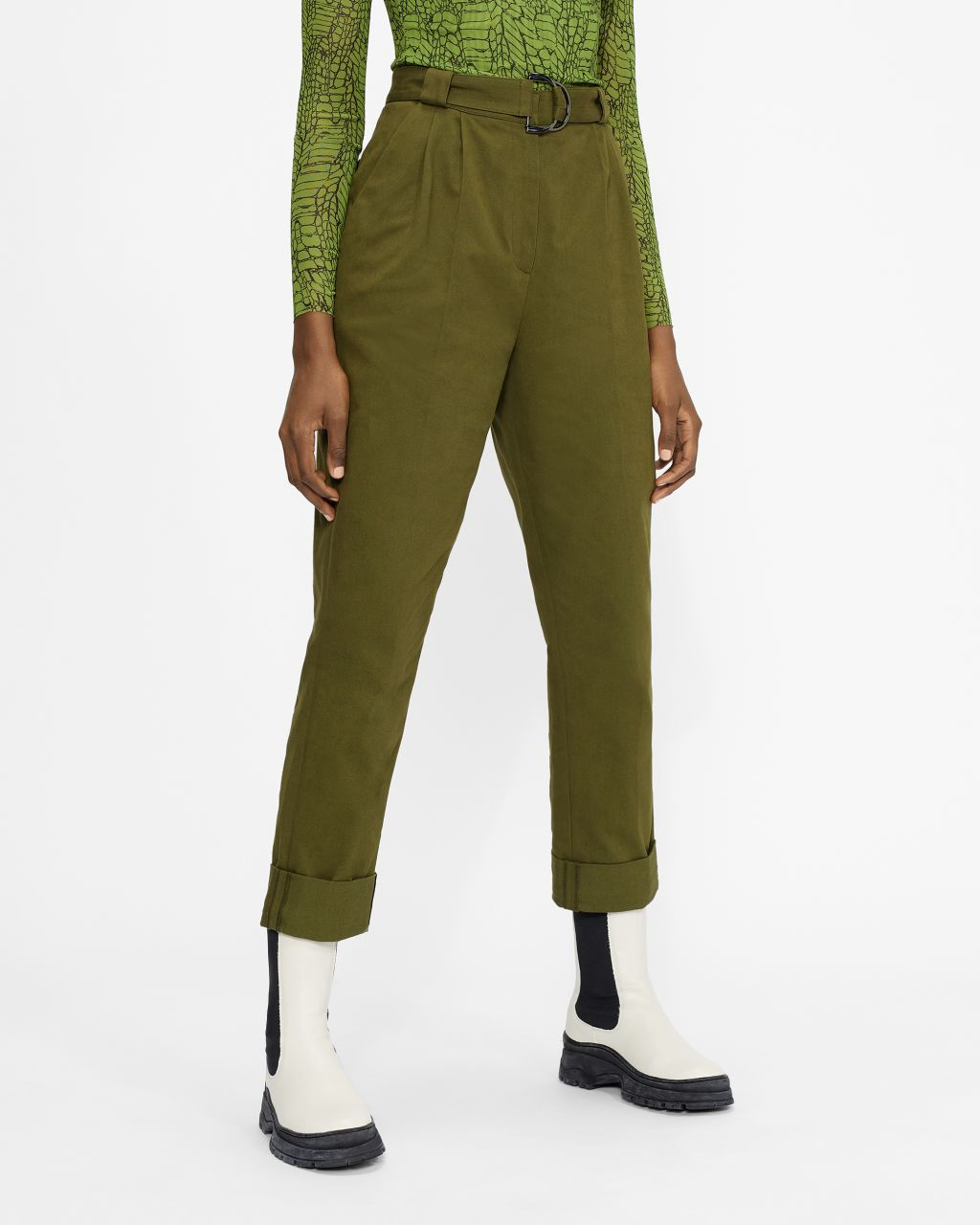 Utility Trouser With D-ring Belt