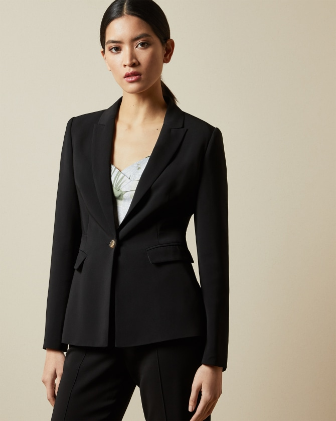black womans suit Look - Black tailored jackets and trousers | Womens Suits & Co-ords | Looks  | Ted Baker ROW