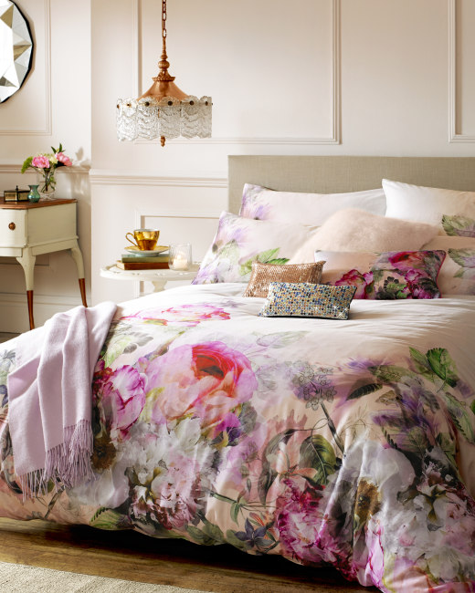 Pure Peony Double Duvet Cover Dusky Pink Gifts Ted Baker Row