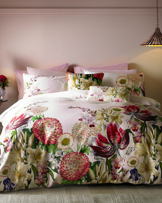 Encyclopaedia Floral Cotton King Duvet Cover Pink Home And Gifts Ted Baker Row