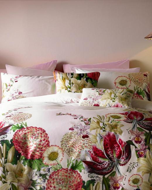 Encyclopaedia Floral cotton pillowcase