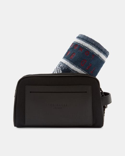 Towel and wash bag gift set Black   Gifts   Ted Baker UK