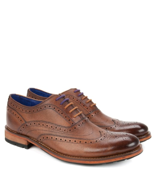 wholesale dealer top fashion new photos Leather wingtip derby brogues - Tan | Tall Footwear | Ted Baker ROW