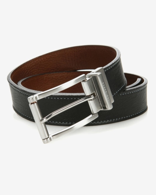 Reversible leather belt Black | Belts | Ted Baker UK