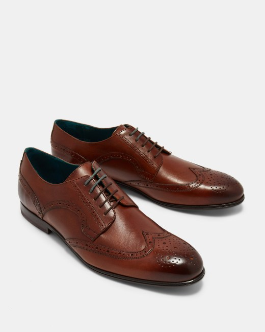 sale uk fashion style usa cheap sale Wing cap leather brogues - Tan | Shoes | Ted Baker ROW