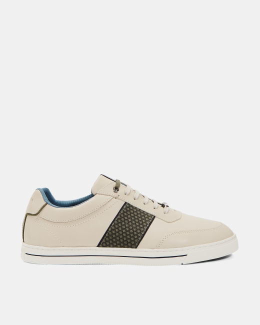 Leather Derby sneakers White | Shoes | Ted Baker