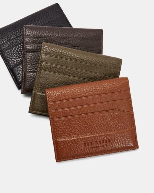 Ted Baker Steemer Chocolate Brown Leather Bi-fold Cardholder Wallet