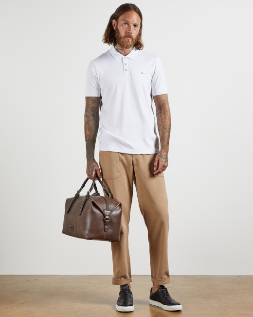 Polo top - White   Tops and T-shirts   Ted Baker ROW