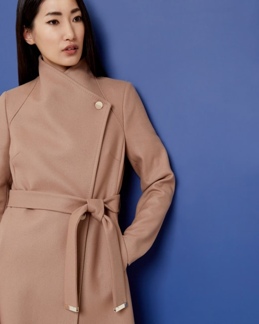 quality products affordable price buy good Long wrap coat - Camel   Jackets & Coats   Ted Baker AU