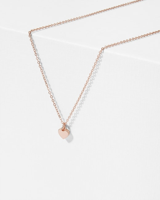 Heart Pendant Necklace Rose Gold Jewellery Ted Baker Uk