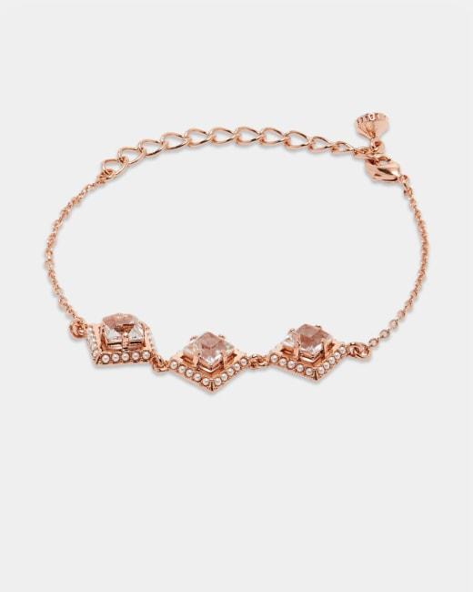 cheapest where can i buy new york Pearl and crystal bracelet - Rose Gold | Jewellery | Ted Baker ROW