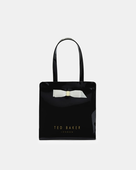 ted baker black white bag with bow