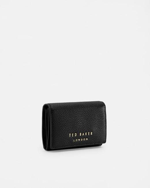 Statement letters mini leather purse Black   Purses   Ted