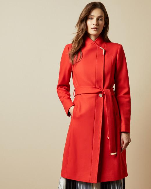 Manteau en laine Rouge vif FEMME | H&M FR