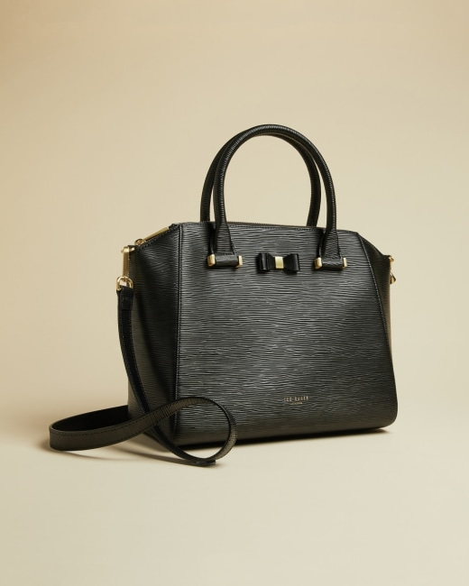 Leather Tote Bag Black Bags Ted