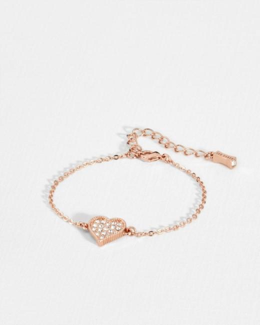 Hidden heart bracelet - Rose Gold   Jewelry   Ted Baker