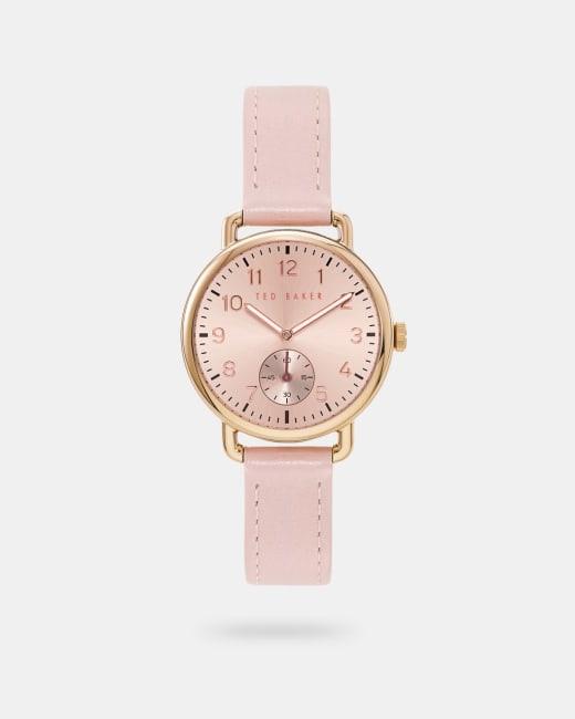 Uhr mit Lederarmband Rosa   Uhren   Ted Baker DE