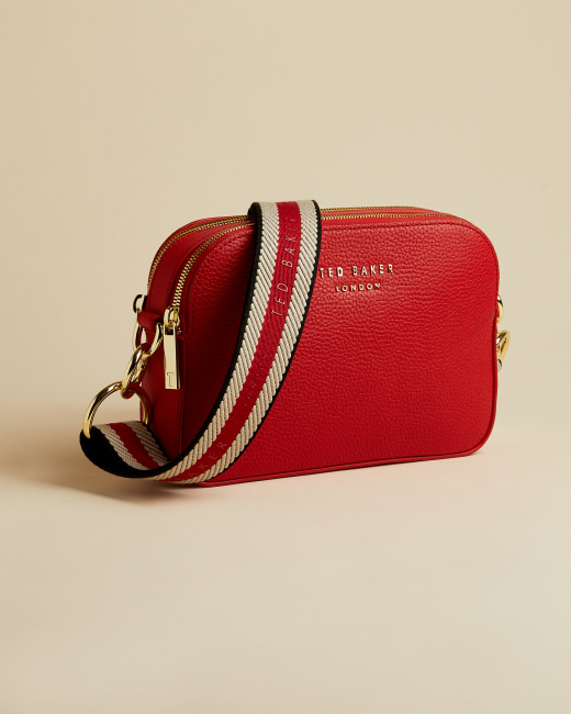 Leather Webbing Strap Camera Bag Red Ted Baker Row