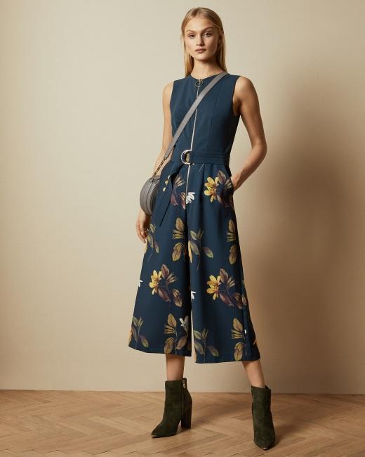 Savanna zip front jumpsuit - Dark Blue | Jumpsuits | Ted Baker