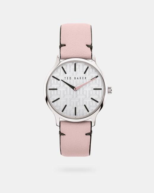 Uhr mit genarbtem Lederarmband Rosa   Uhren   Ted Baker DE