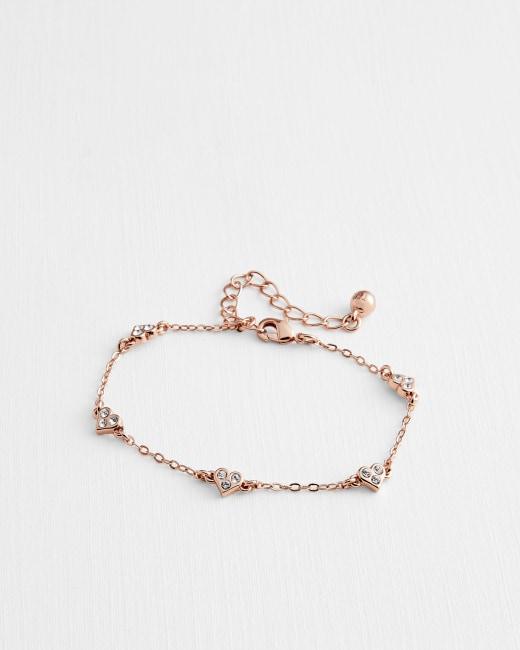 Nano heart charm bracelet - Rose Gold   Jewellery   Ted Baker ROW