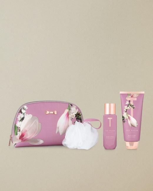 Peony Spritz toiletry bag gift set