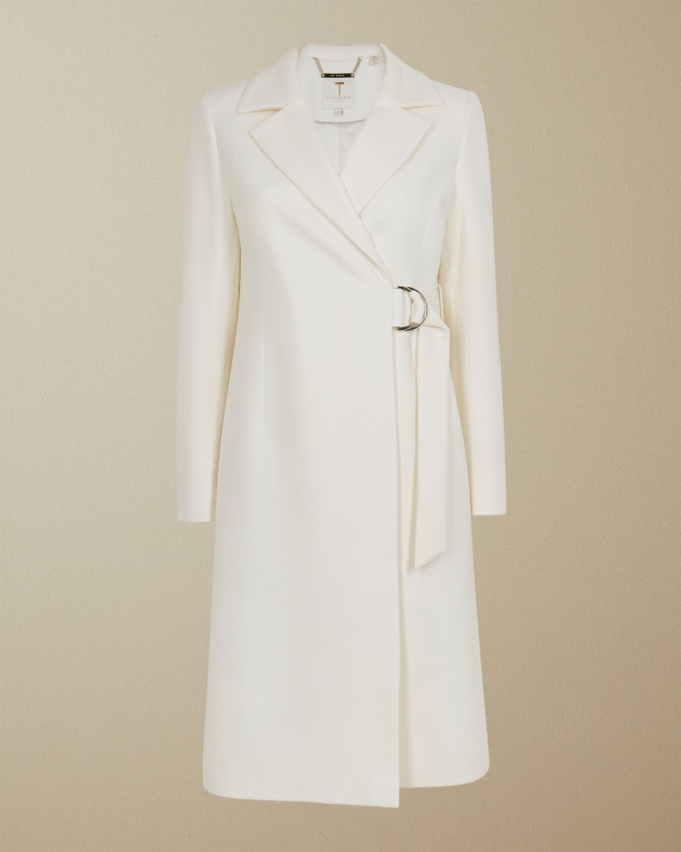 Long Belted Jacket Ivory