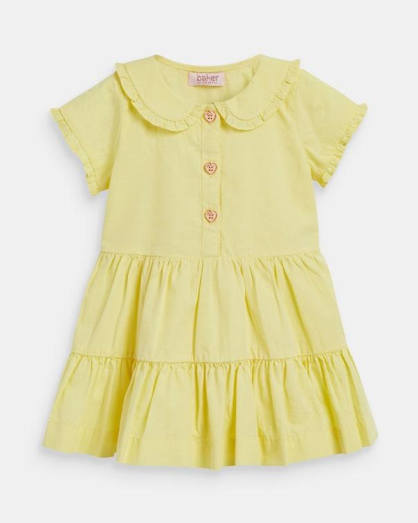 테드 베이커 Ted Baker 293729 Short Sleeve Collared Dress,pale yellow