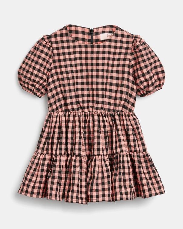 테드 베이커 Ted Baker 224073 Gingham Tiered Dress,pink