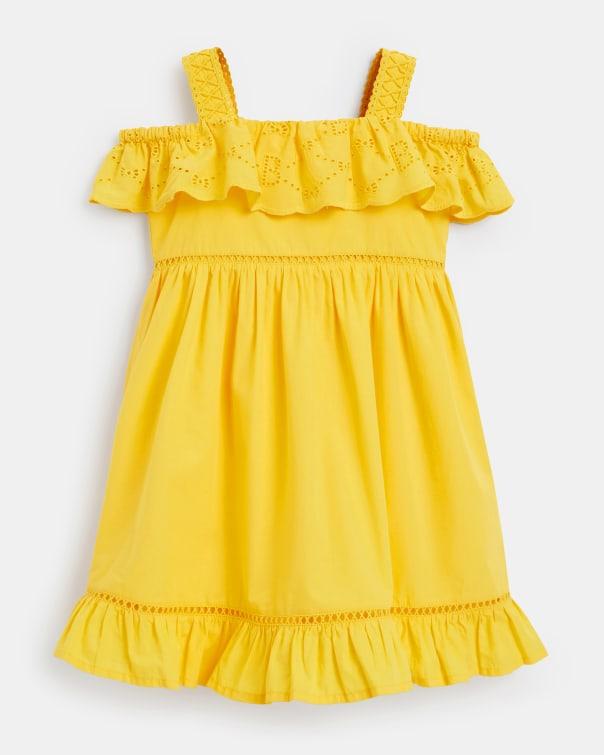 테드 베이커 Ted Baker 665034 Frill Detail Day Dress,yellow