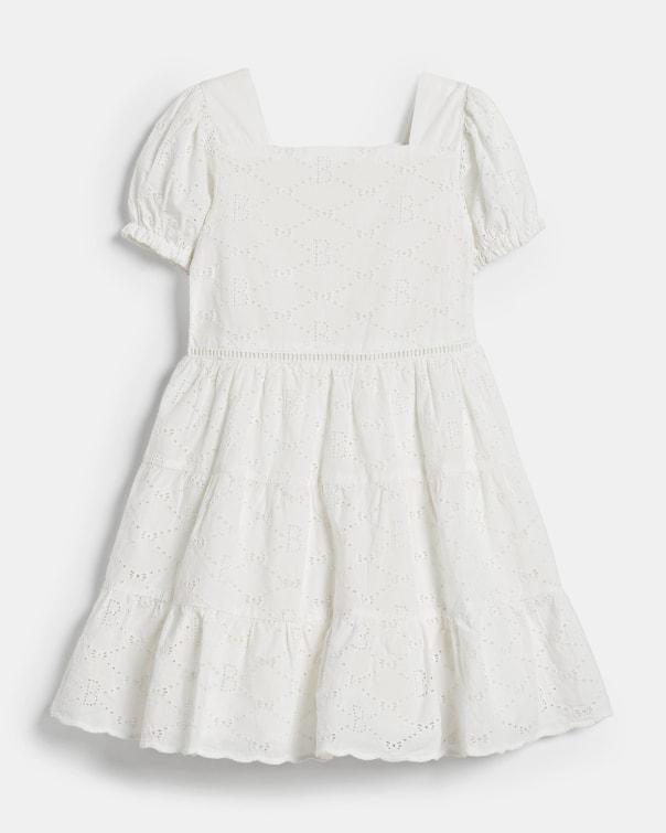 테드 베이커 Ted Baker 487539 Tiered Broderie Dress,white