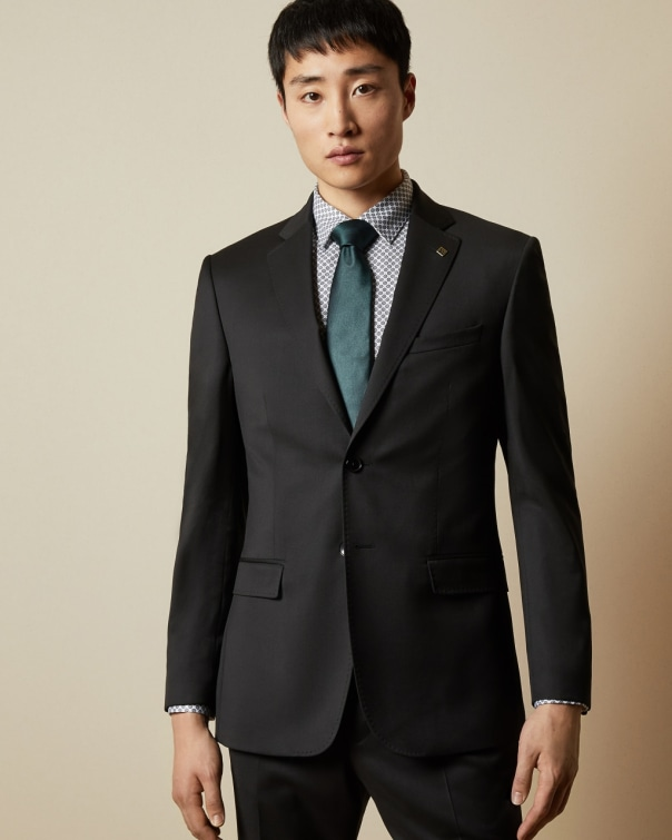 테드 베이커 Ted Baker Debonair slim fit wool jacket,black