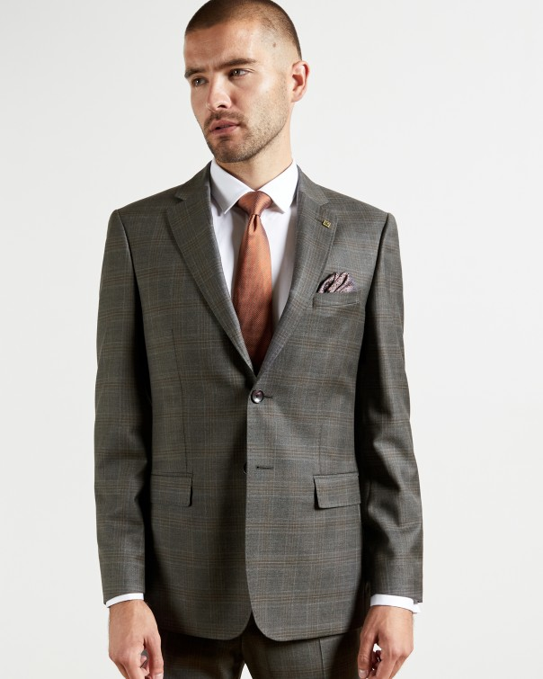 테드 베이커 Ted Baker Debonair check wool suit jacket,grey