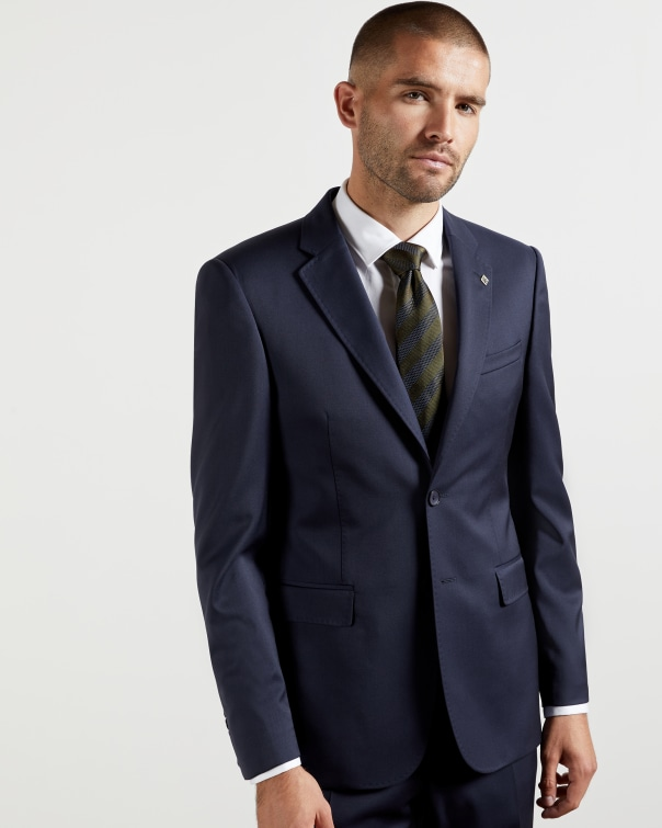 테드 베이커 Ted Baker Debonair twill wool suit jacket,navy