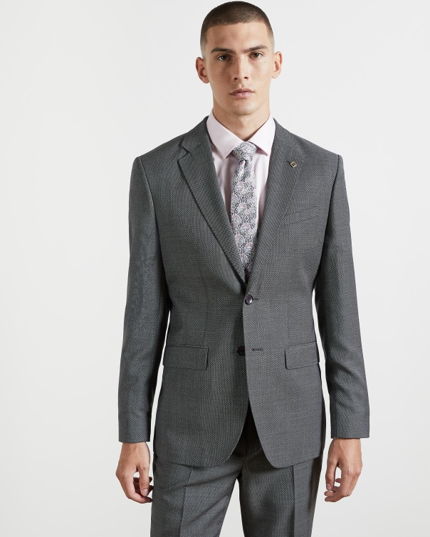 테드 베이커 Ted Baker Wool birdseye suit jacket,grey