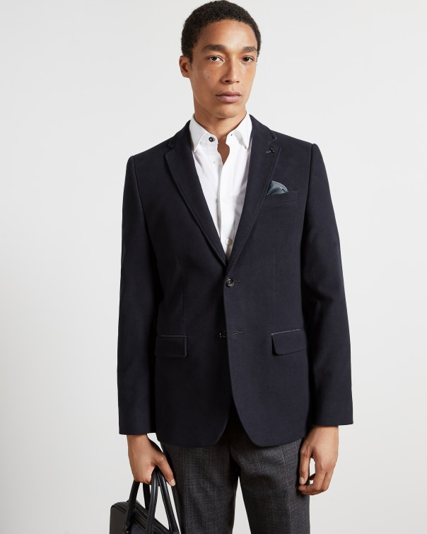 테드 베이커 Ted Baker Cotton super soft blazer,navy