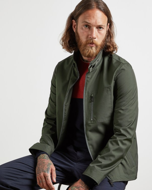 테드 베이커 Ted Baker Funnel neck jacket,khaki