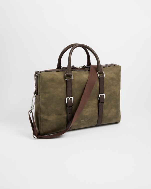 테드 베이커 서류가방 Ted Baker Faux Nubuck leather briefcase,olive