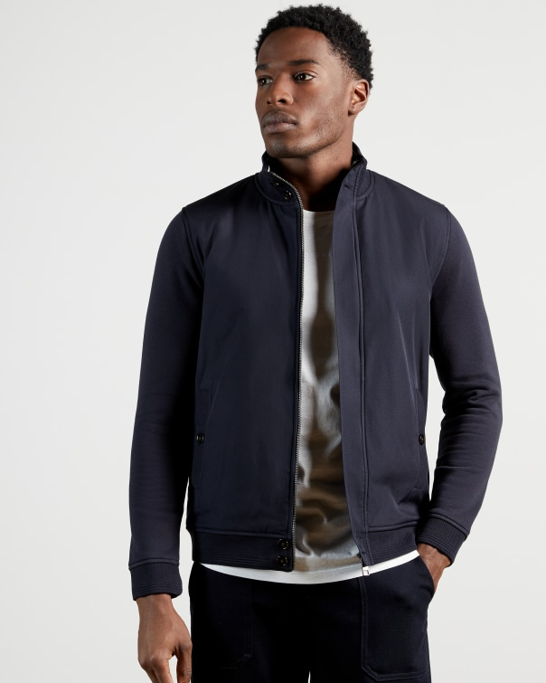 테드 베이커 Ted Baker Funnel neck jacket,navy