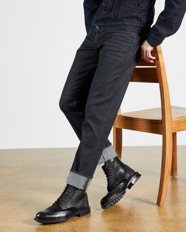 테드 베이커 Ted Baker Straight leg rinse wash jean,navy