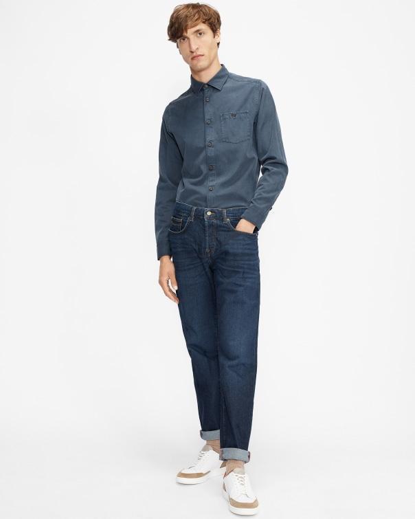 테드 베이커 Ted Baker Straight leg mid wash jean,blue