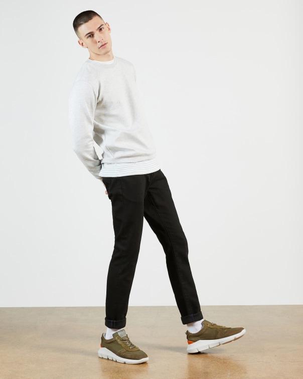 테드 베이커 Ted Baker Tapered leg black denim jean