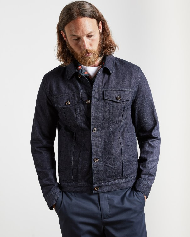 테드 베이커 Ted Baker Cotton denim jacket,navy