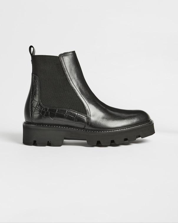 테드 베이커 Ted Baker Cleated Chelsea Boot,black